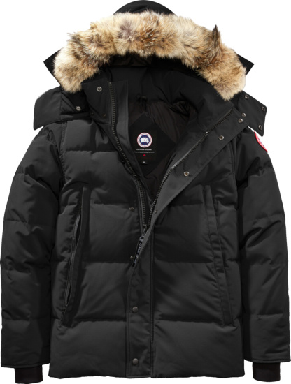 Canada Goose Black And Fur Wyndham Parka Jacket