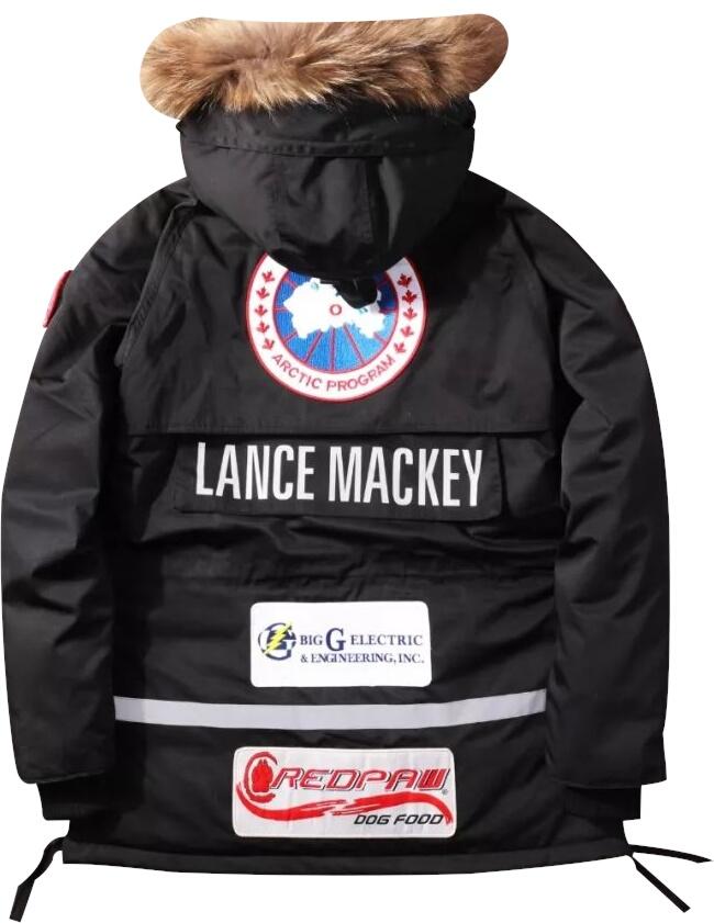 'Lance Mackey' Black Parka