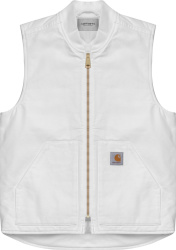 Carhartt Wip White Canvas Waxed Vest