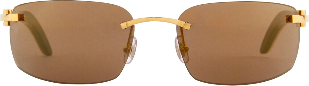 White & Brown 'C Décor' Sunglasses