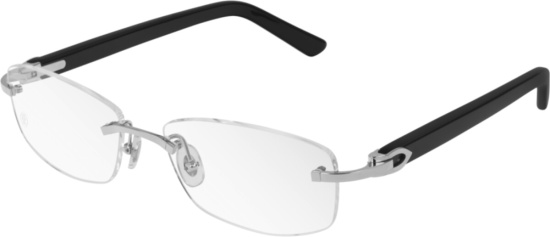Cartier Black And Silver Tone Canazei Glasses