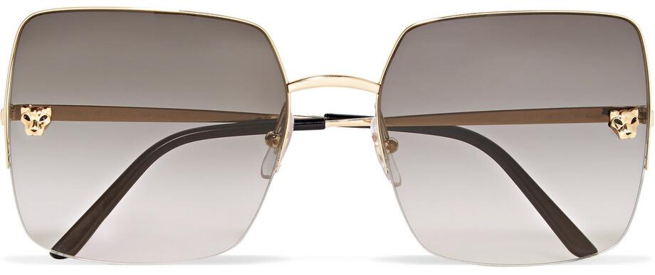 Cartier Large Square Panthere Sunglasses
