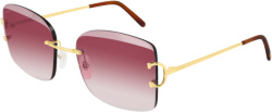 Cartier Pink Gradient And Gold C Decor Sunglasses Ct0007rs