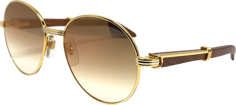 Cartier Vintage Round Sunglasses Worn By Rick Ross