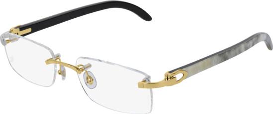 Cartier White Buffalo And Gold Eyeglasses