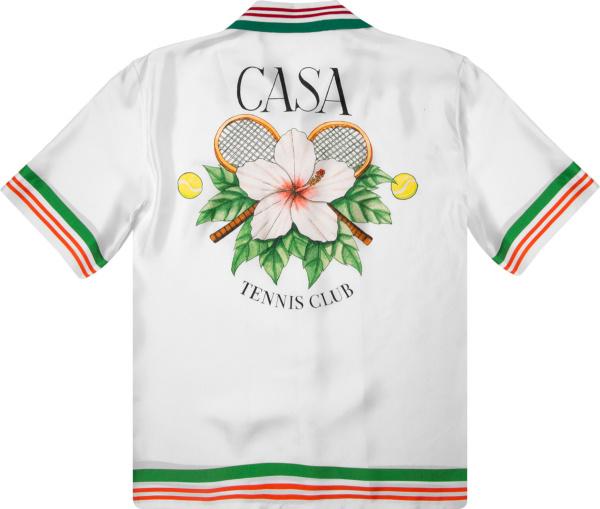 Casablanca Casa Tennis Club Short Sleeve Silk Shirt