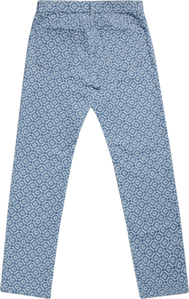 Casablanca Blue Monogram Vintage Wash Denim Jeans