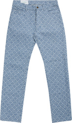 Casablanca Blue Allover Logo Jeans