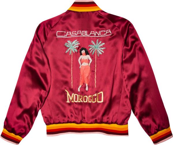 Casablanca Burgundy Monaco Bomber Jacket