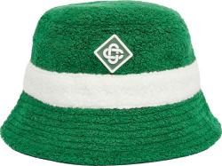 Casablanca Green And White Stripe Wool Terry Cotton Bucket Hat