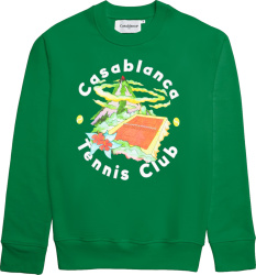 Casablanca Green Tennis Club Hoodie