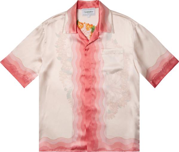 Casablanca Light Pink Gradient Silk Shirt
