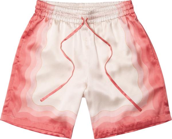 Casablanca Light Pink Gradient Silk Shorts