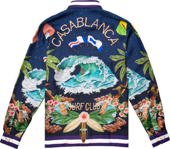 Casablanca Midnight Surf Club Print Shirt