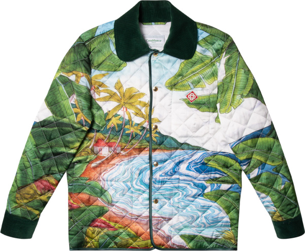Casablanca Mulitcolor Beach Print Quilted Jacket
