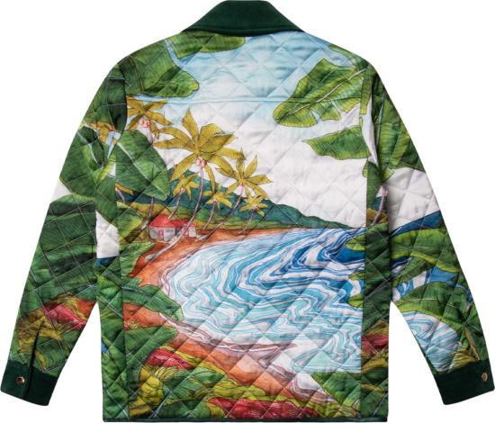 Casablanca Multicolor Idilic Print Quilted Jacket