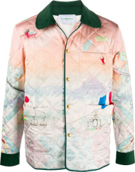 Pastel Print Quilted Jacket