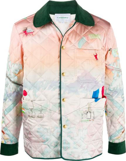 Casablanca Pastel Quilted Shirt Jacket