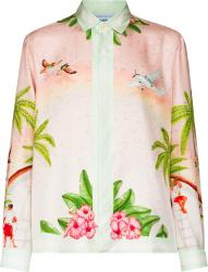 Casablanca Pink Surf Club Print Shirt
