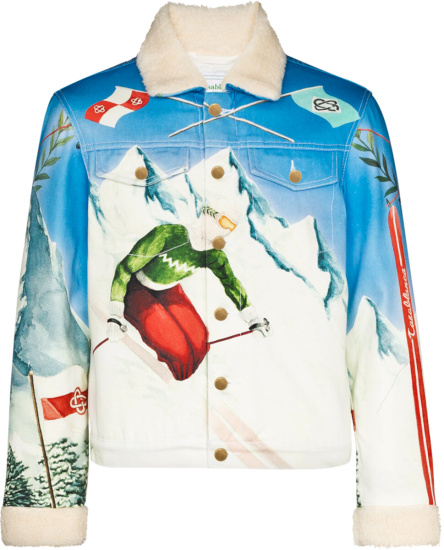 Casablanca Ski Print Denim Jacket