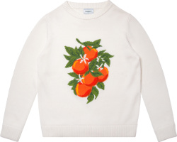 Casablanca White Sweater With Oranges Jacquard