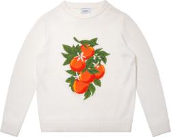 Casablanca White Sweater With Oranges Jacquard
