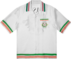 Casablanca White Tennis Club Silk Shirt