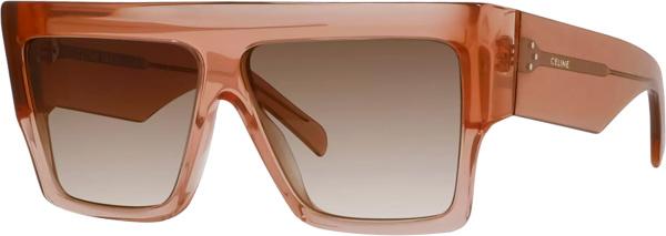 Celin Pink Flat Top Square Sunglasses