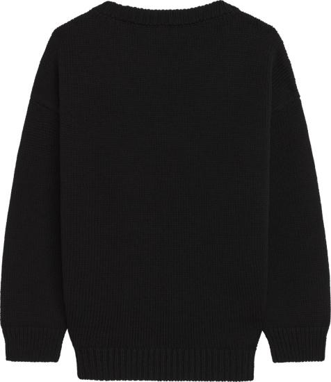 Celine Boxy Crew Neck Sweater In Wool Clown Jacquard