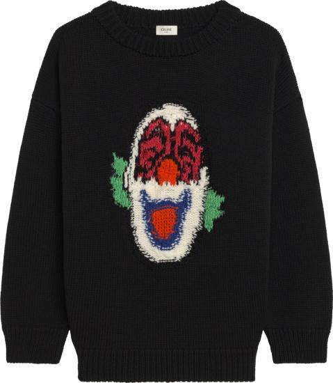 Celine Black Clown Sweater