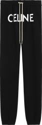 Celine Black Front Logo Sweatpants