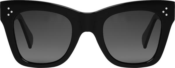 Celine Black Square Cateye Sunglasses