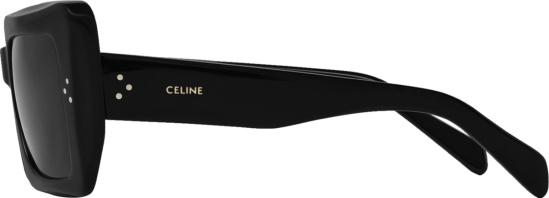Celine Black Square Oversized Cateye Sunglasses