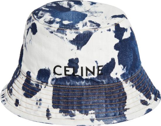 Celine Bleached Blue Denim Bucket Hat