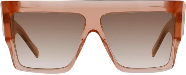 Celine Clear Pink Square Sunglasses
