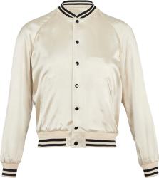 Ivory 'Souvenir' Bomber Jacket