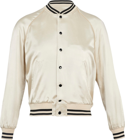 Celine Ivory Bomber Jacket