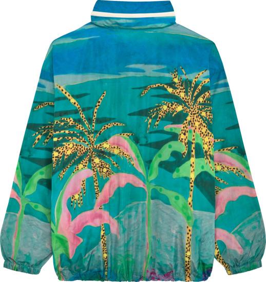 Celine Multicolor Floral Print Windbreaker Jacket