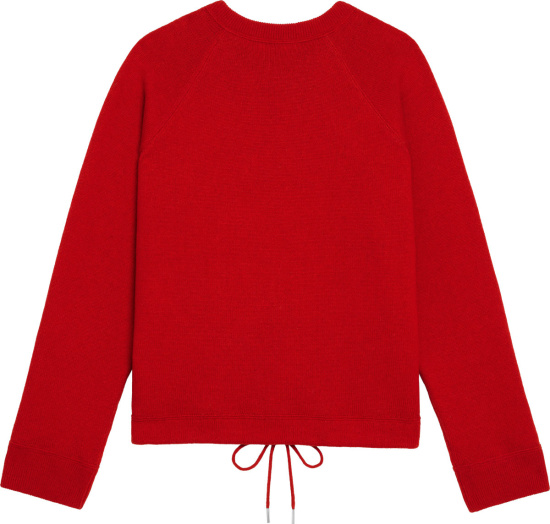 Celine Red Drawstring 16 Sweatshirt