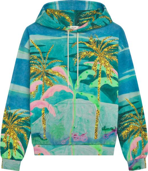 Celine Tropical Print Hoodie