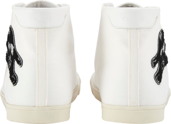 Celine Wanderers Patch White Sneakers