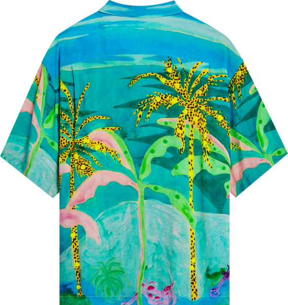 Celine X Tyson Reeder Tropical Print Hawaiian Shirt