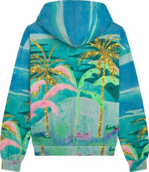 Celine X Tyson Reeder Tropical Print Hoodie