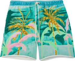 Celine X Tyson Reeder Tropical Print Sweatshorts