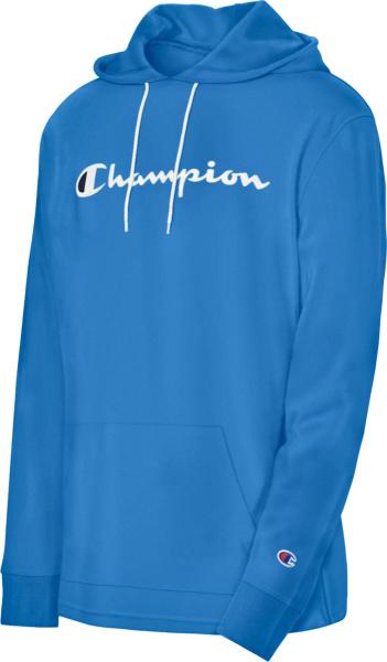 Champion Royal Blue Logo Print T Shirt Hoodie