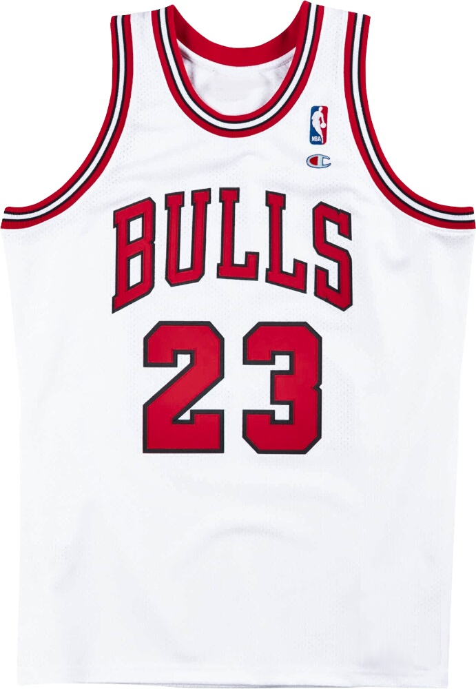 Champion Vintage Chicago Bulls White Jersey