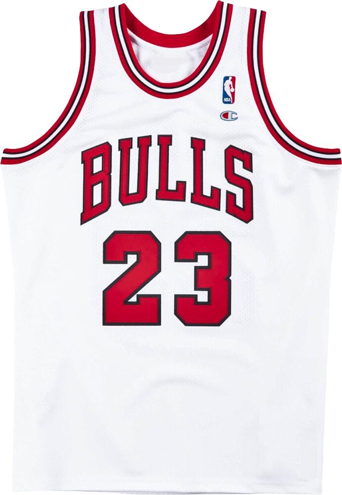 Champion Vintage Chicago Bulls White Jersey