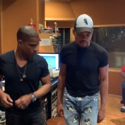 Chance The Rapper Dances In The Studio In A White Sox Hat And Mickey Mouse Jeans
