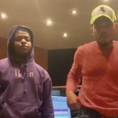 Chance The Rapper Dancing In The Studio Wearing A Polo Ralph Lauren Sweater Chicago White Sox Hat And Sneakes