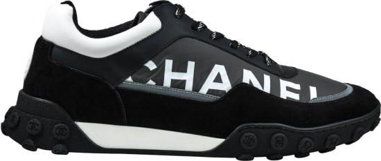 Chanel Black Nylon Sneakers